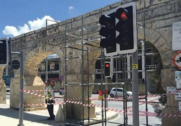 Repairs to historic aqueduct damaged by reckless truck driver