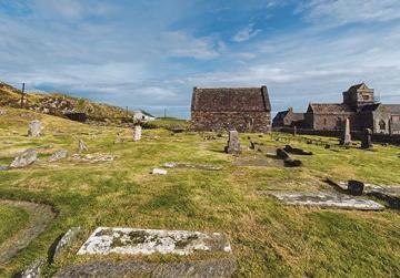 Iona Abbey, nunnery, church and cemetery.