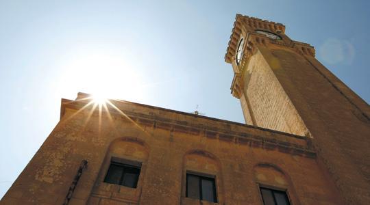 The clock tower in Mtarfa