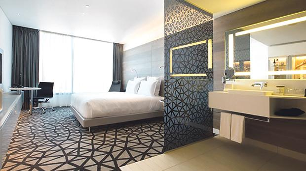 Superior King Suite at the Pullman Sydney Airport Hotel.