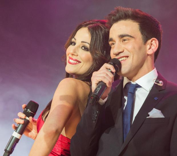 Former winners and co-presenters Ira Losco and Gianluca Bezzina.  Picture: Daniel Mifsud.