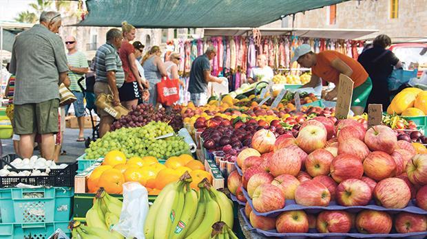 Fruit and vegetables on sale in Marsaxlokk.