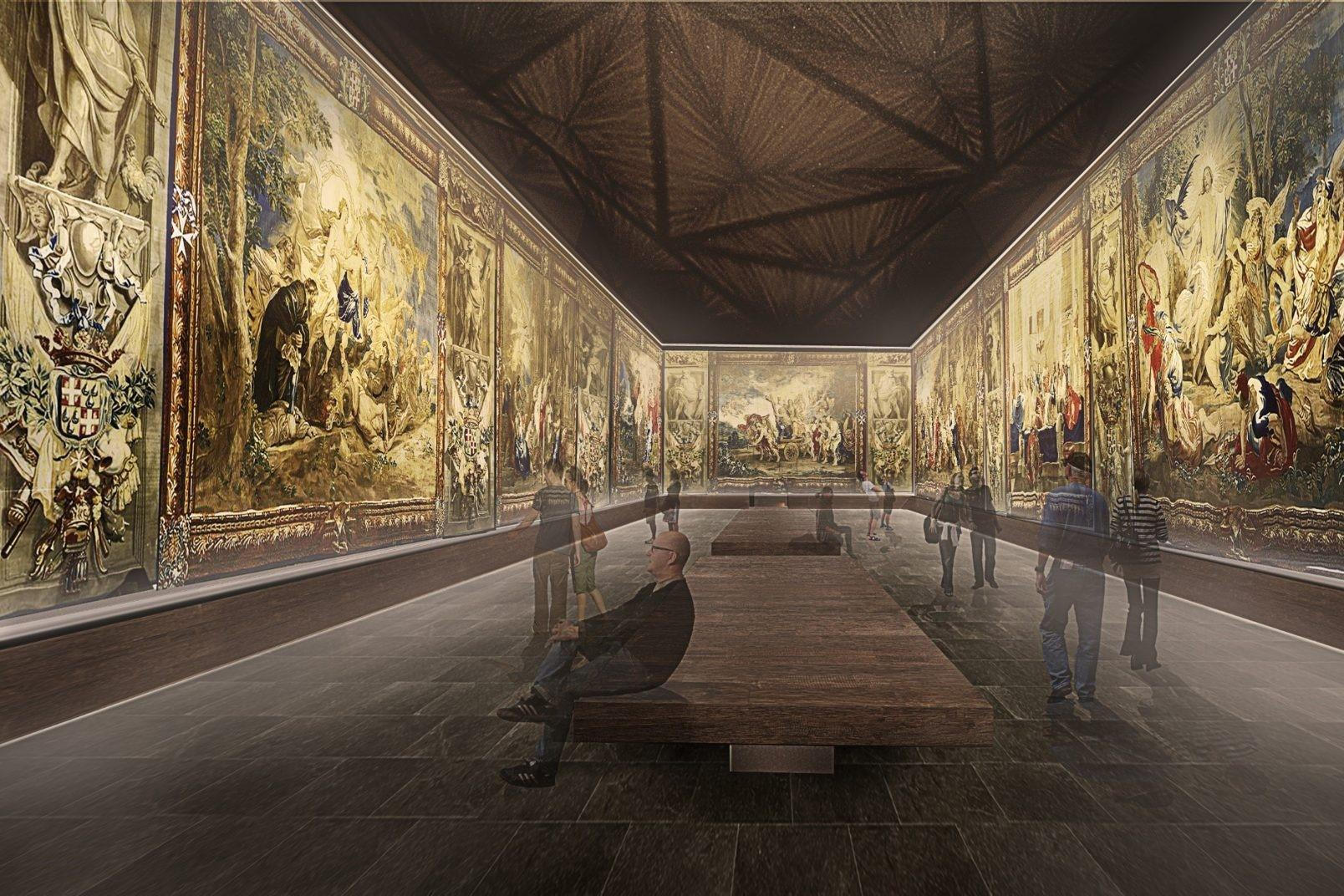 The St John's museum extension tapestry hall