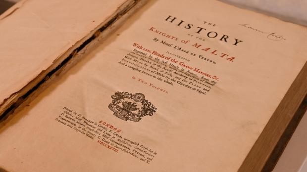 The rare volume was donated by an Irish couple who wanted it returned to its spiritual home. Photo: Heritage Malta.