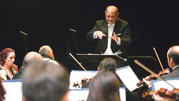 Mark Agius conducting his Messa da Requiem during the St Paul Chamber Ensemble's recent concert tour in Poland.