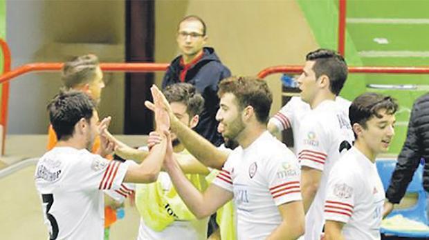 University of Malta players in party mood. Photo: Joe Borg