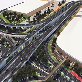 A design of the seven-tier flyover project at Marsa