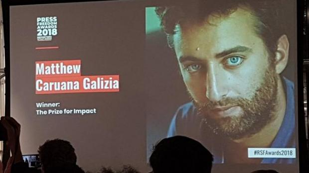 Matthew Caruana Galizia wins Reporters Without Borders' Prize for Impact