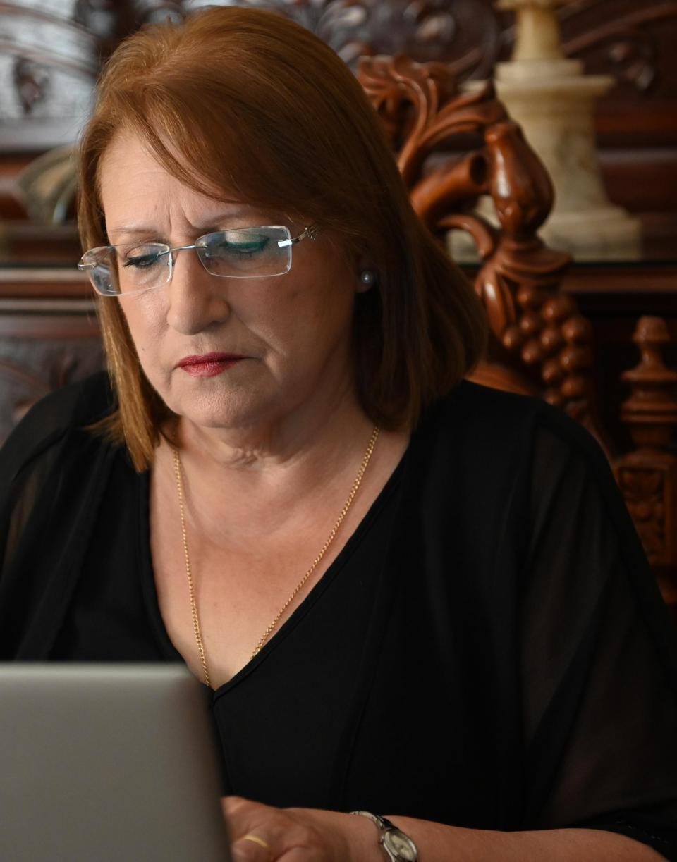 Former president Marie-Louise Coleiro Preca.