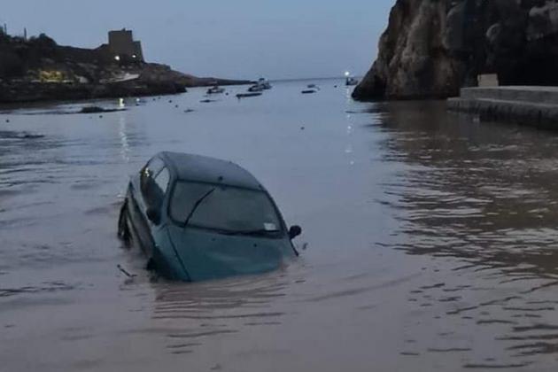 Xlendi flooded after night of heavy rainfall