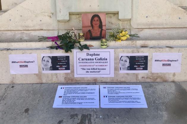 Press freedom activist called 'bitch' at Daphne memorial site