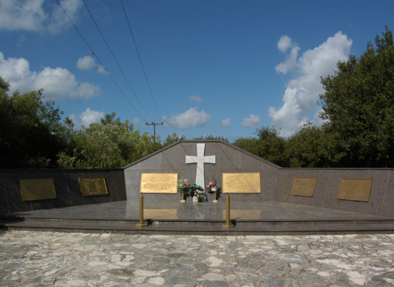 The Italian War Memorial, located on a ridge above the town of Argostoli. The story was the inspiration for best-seller Captain Corelli's Mandolin