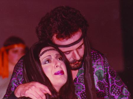 Mary Rose Mallia and Renato in a scene from the original rock opera which took place almost 30 years ago.