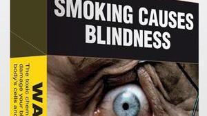 A health warning on a cigarette packet in Australia.