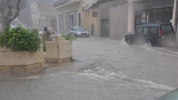 Balzan Valley this afternoon. Photo John A Portelli.