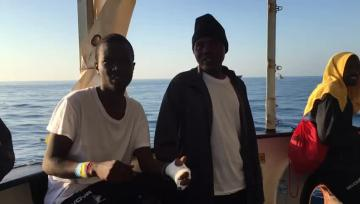 Watch: Song, dance and relief as Aquarius asylum seekers reach Valencia