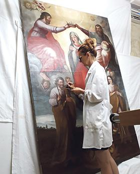 The restoration was in the hands of restorer and conservator Sabine Azzopardi.