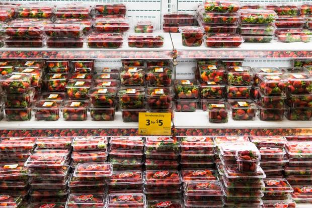 Fresh strawberries for sale in Melbourne, Australia. Photo: Shutterstock