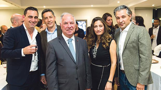 Mellieħa mayor John Francis Buttigieg (centre) flanked by (from left) Belair Property directors Jean-Pierre Camilleri, Ian Casolani, Victoria Spiteri and Gilberto Arredondo at the inauguration celebration.
