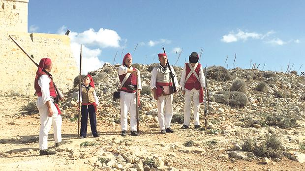 Members of the Historical Re-Enactment Group gave a glimpse of life at Comino Tower over the years during a recent open weekend organised by Din l-Art Ħelwa.