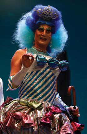 Alan Montanaro as the dame. Photo: Darrin Zammit Lupi