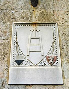 Emblem of the hospital of Santa Maria della Scala in Siena, which Scappi adopted as her personal coat of arms.