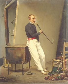 Self-portrait of Horace Vernet, the French artist who introduced photography in Malta in 1840.