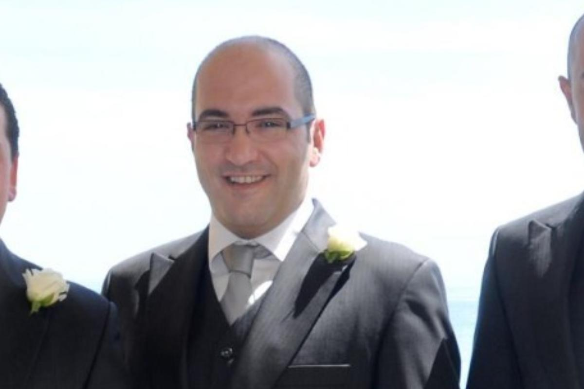 Yorgen Fenech, currently under arrest in connection with the murder of Daphne Caruana Galizia, pictured at a wedding