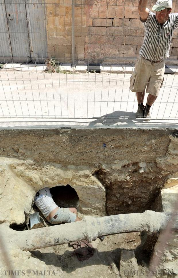 Road works between Rabat and Bahrija ground to halt after the discovery of tombs dating to Punic times on June 8. Photo: Chris Sant Fournier