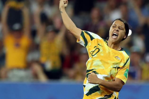 Watch: Record crowd watches Sam Kerr-led Matildas beat Chile