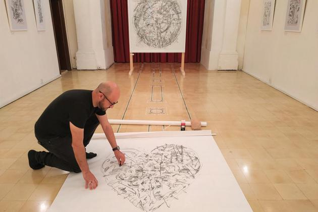 Rubbings and drawings exhibition