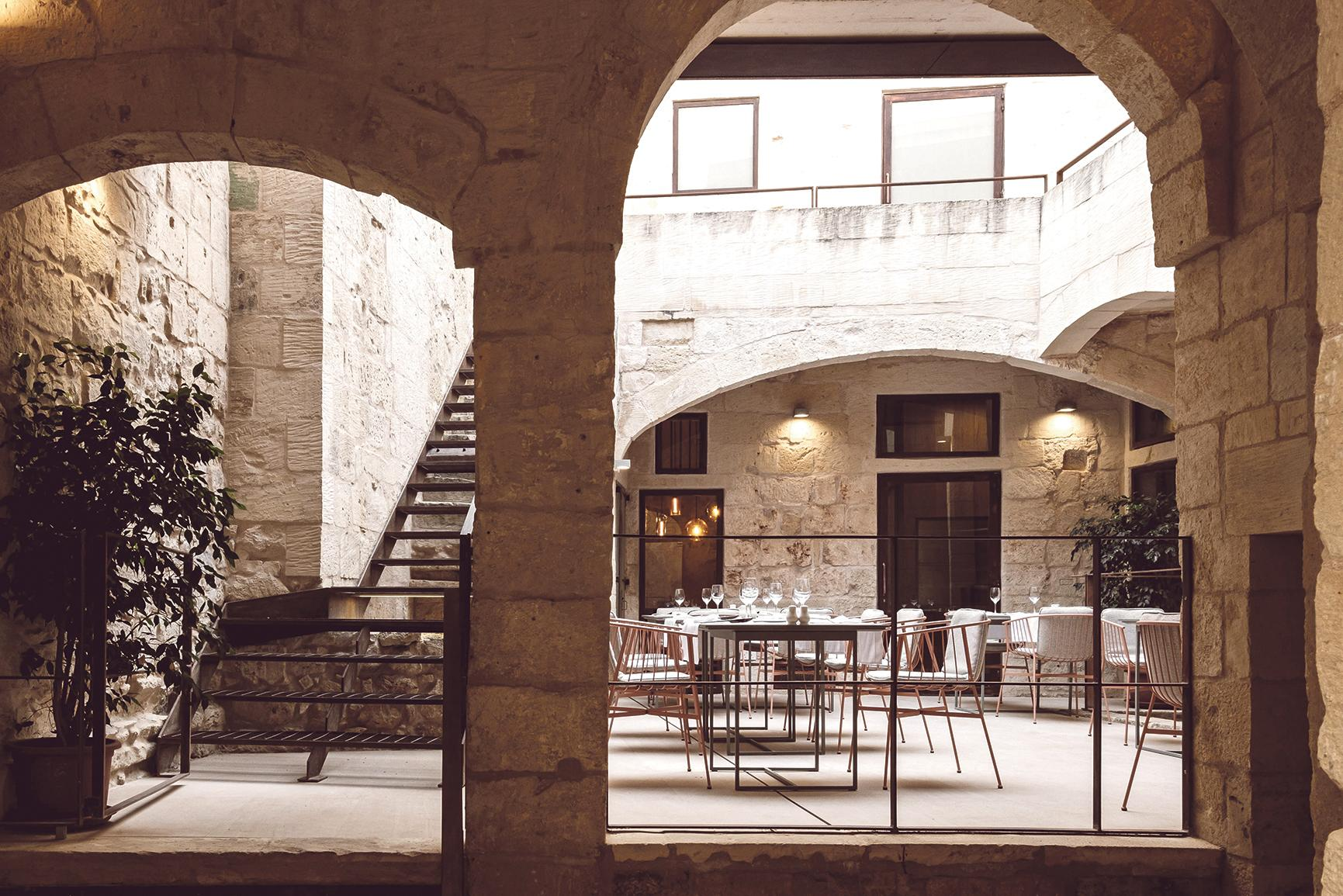 Vinaccia Restaurant in Rabat, designed by Kenneth Zammit Endrich and Samuel Cassar