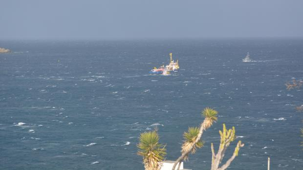The Sea Watch 3 outside Għadira. Photo: Mark John Vella Bardon