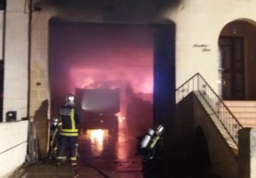 Three trucks destroyed in Mosta garage blaze