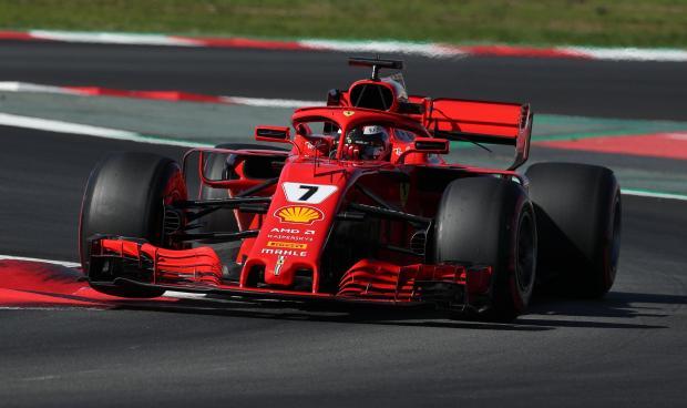 Kimi Raikkonen of Ferrari during testing.