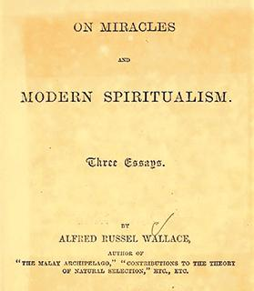 Cover of a pamphlet by Alfred Russel Wallace on spiritualism.