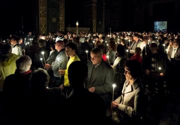 Watch live: Archbishop leads Easter Saturday vigil at St John's co-Cathedral