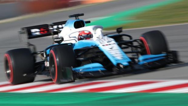 Williams' Robert Kubica in action during testing.