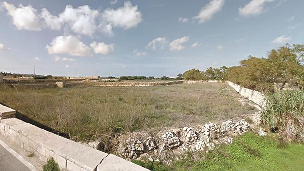 The site of the proposed fuel station in Żebbuġ.