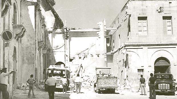 1978: Demolition work revealed part of the formerConsegna…