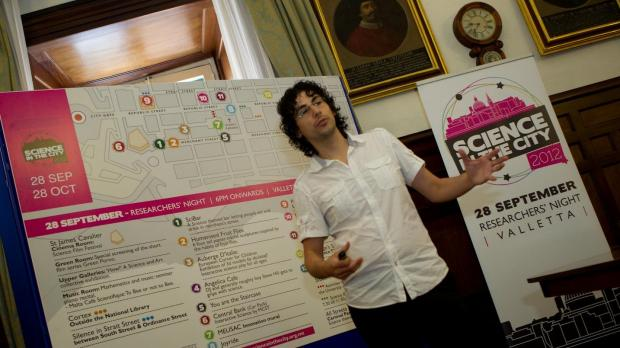 Edward Duca explains the programme of Science in the City.