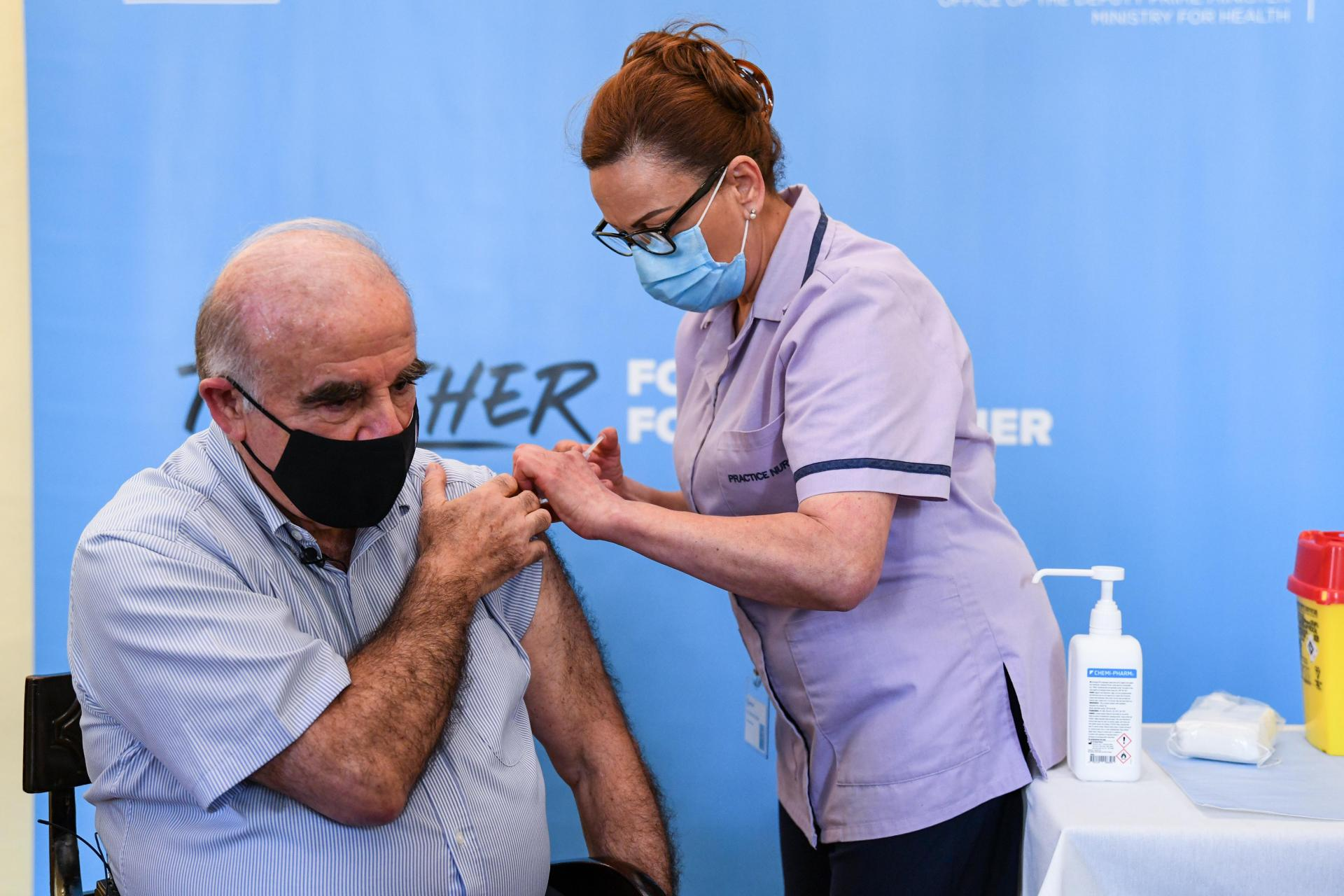 President George Vella is among the 15 per cent of the population to receive at least one dose of the COVID-19 vaccine - but case numbers are reaching record highs. Photo: DOI