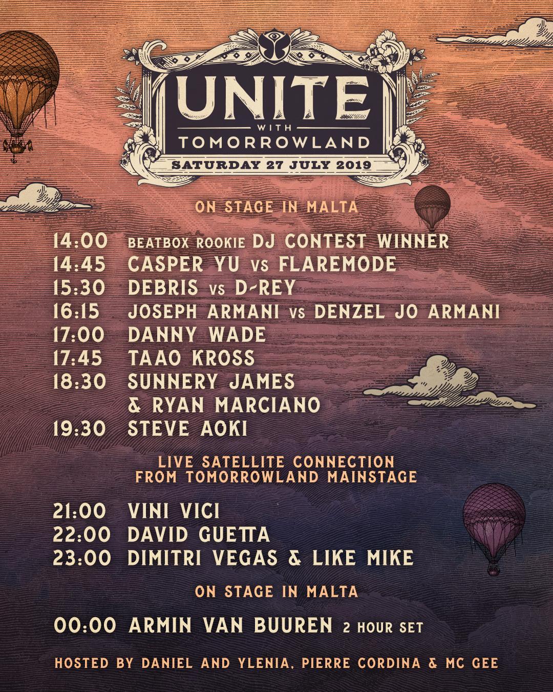 UNITE with Tomorrowland setlist