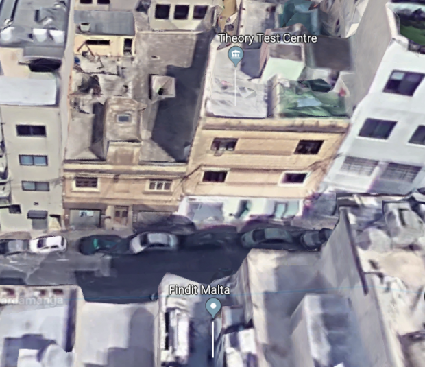 Aerial view of the buildings before works started. Photo: Google Maps
