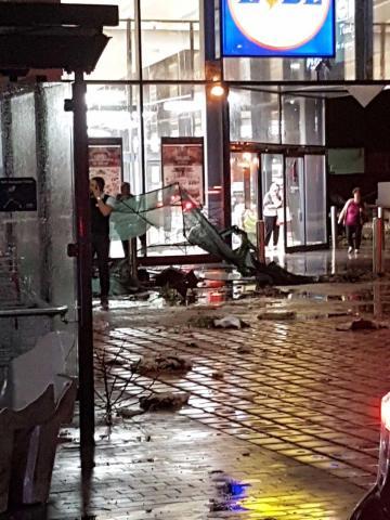The scene at Lidl. Picture - Emma Delia - Facebook Times of Malta.
