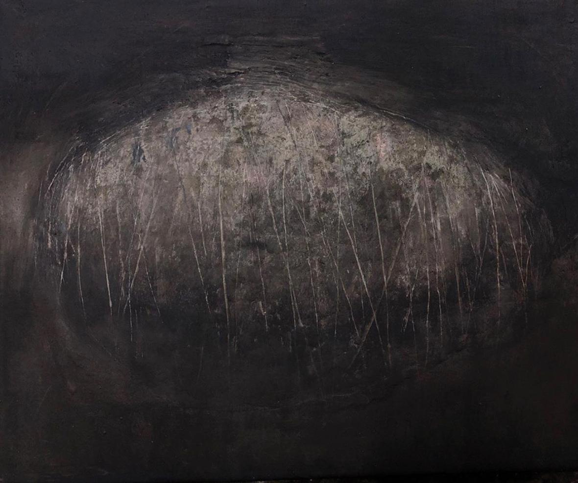 Untitled from the Swath series, oil and mixed media on canvas