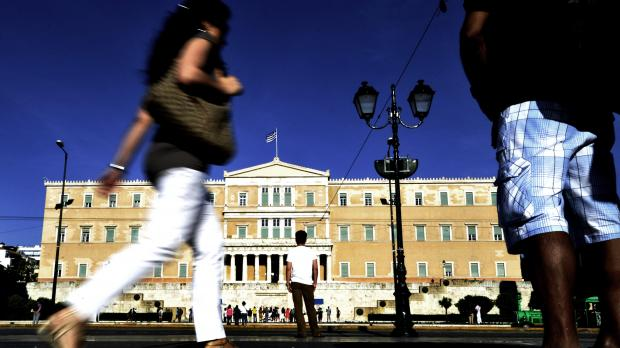 The Greek Parliament.