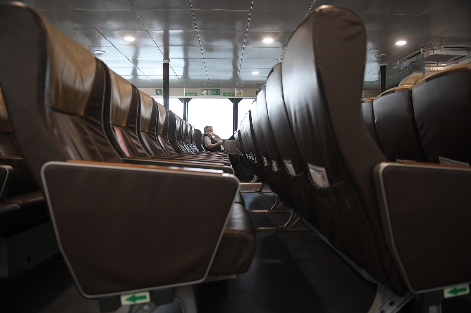 Inside the Gozo Fast Ferry Photo: Matthew Mirabelli