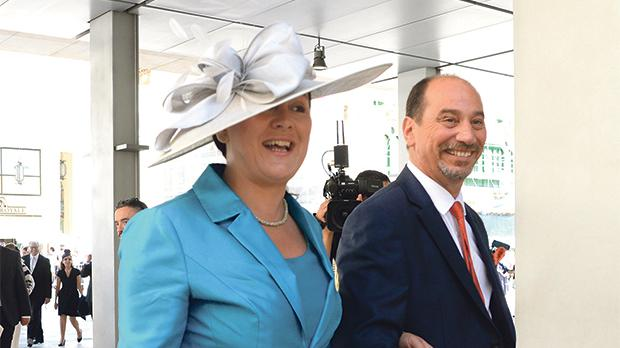 Marlene Farrugia and Godfrey Farrugia at the opening of Parliament in June. Photo: Matthew Mirabelli