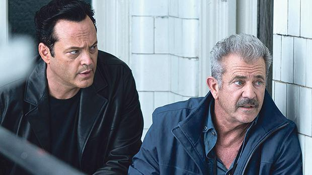 Vince Vaughn (left) and Mel Gibson make some bad decisions in Dragged Across Concrete.